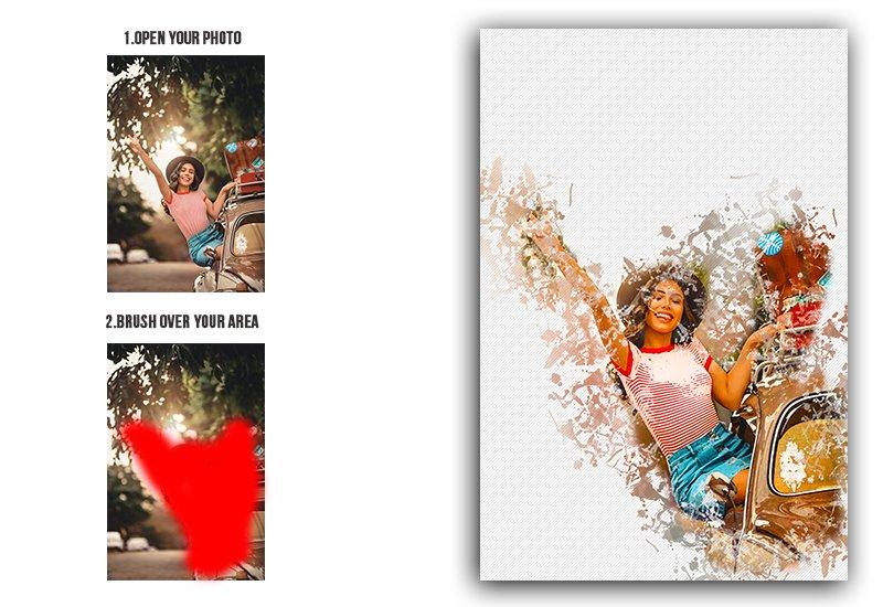 11-In-1 Elegant Watercolor Photoshop Actions Bundle - Preview 30