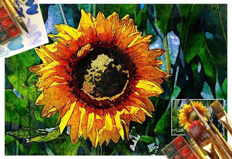 11-In-1 Elegant Watercolor Photoshop Actions Bundle - Preview 40