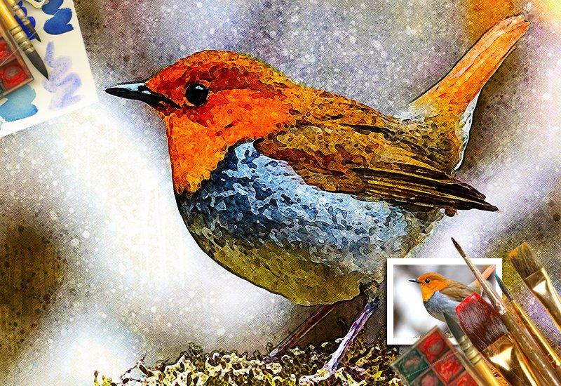 11-In-1 Elegant Watercolor Photoshop Actions Bundle - Preview 41