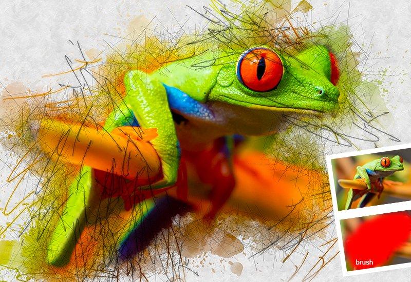11-In-1 Elegant Watercolor Photoshop Actions Bundle - Preview 45
