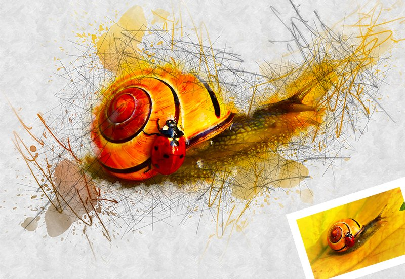 11-In-1 Elegant Watercolor Photoshop Actions Bundle - Preview 47