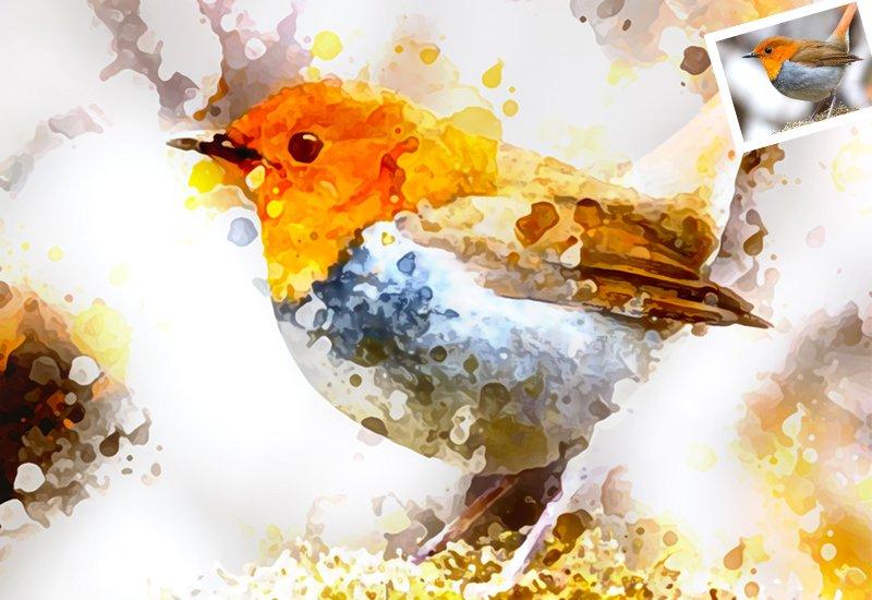 11-In-1 Elegant Watercolor Photoshop Actions Bundle - Preview 50