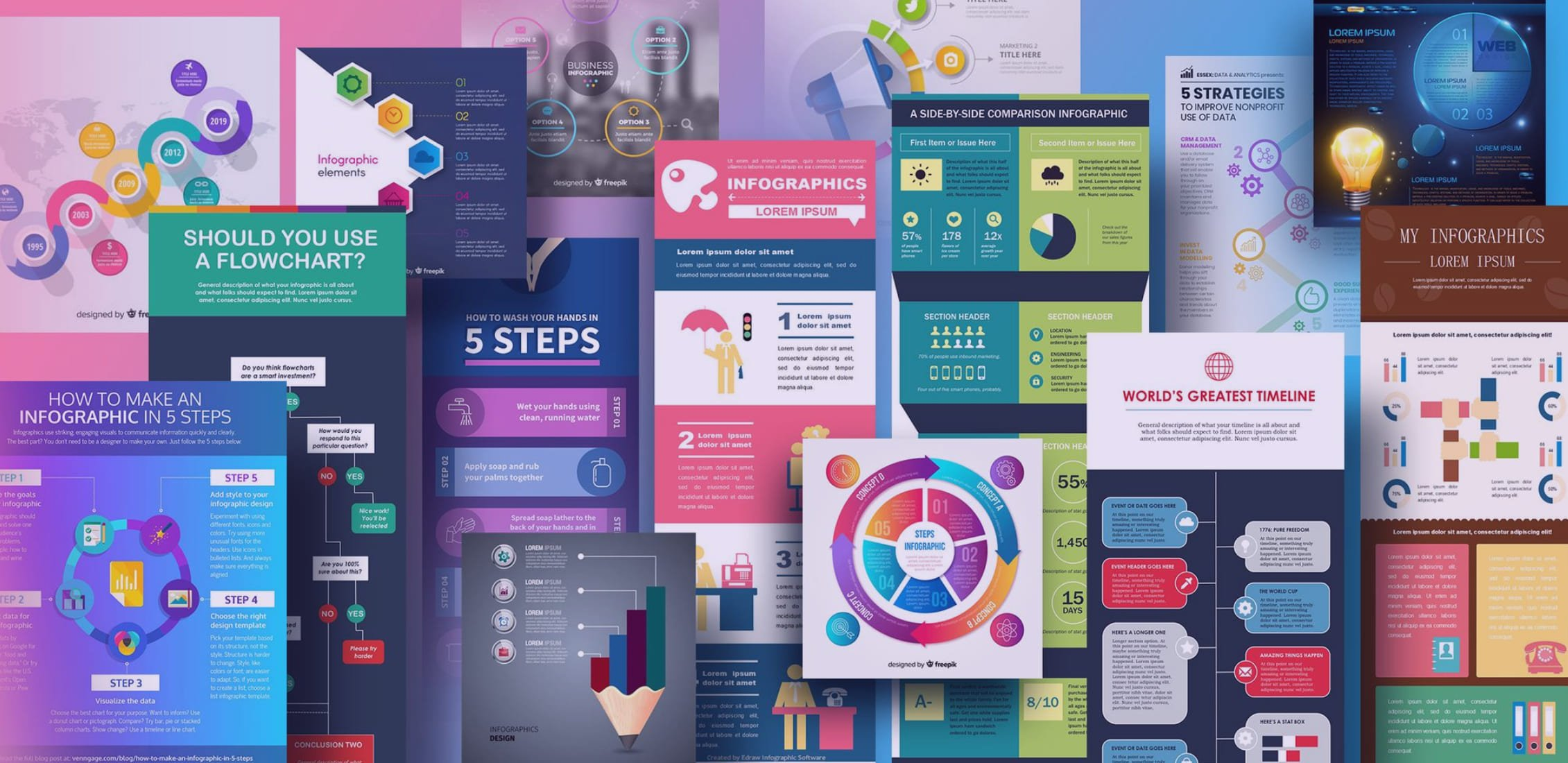 Examples of the best infographic templates.