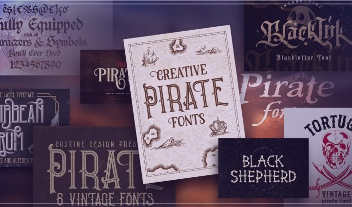 Examples of the best pirate fonts.