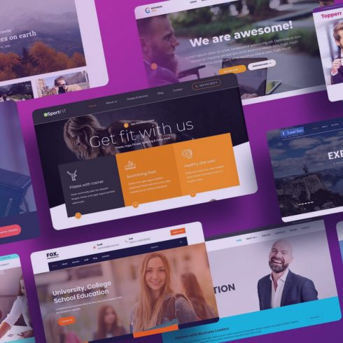 Examples of the Best Small Business Website Templates.