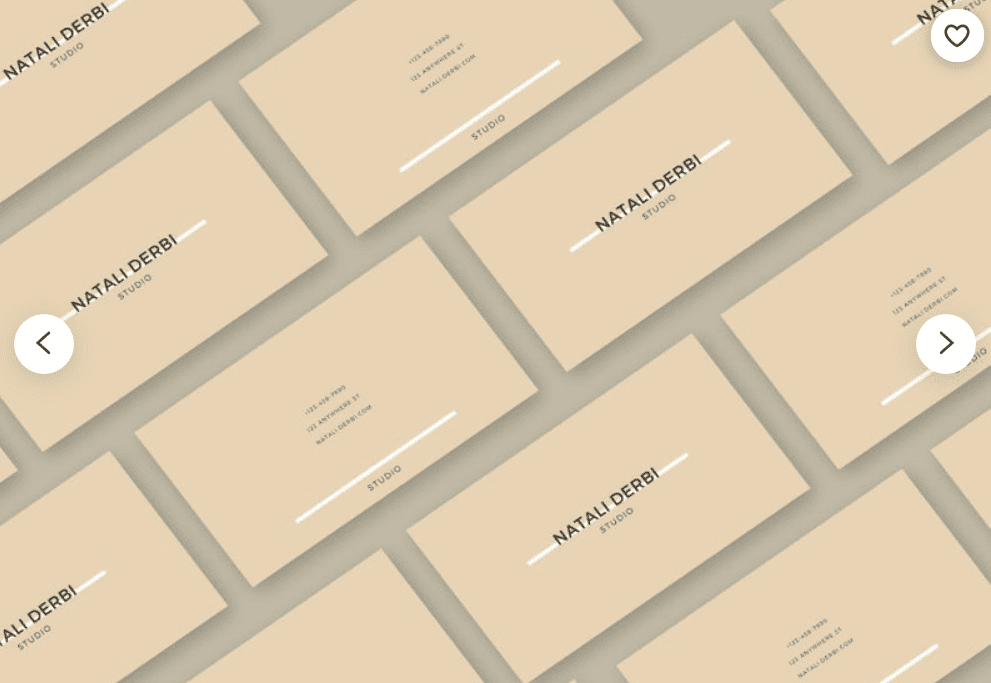Minimalistic solid color cards.