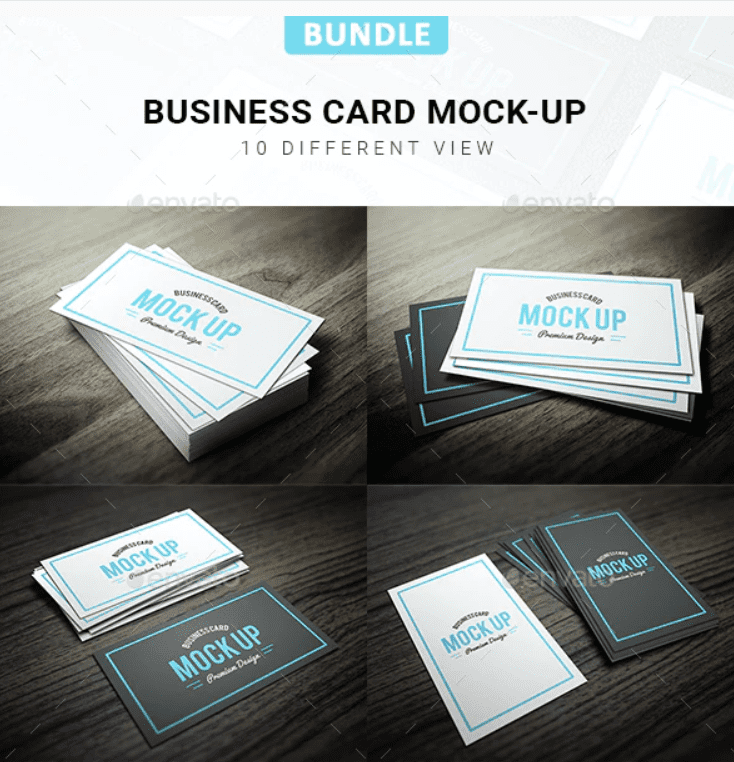 Stylish cards in two versions - either white with turquoise, or black and turquoise.