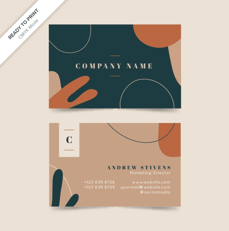 Stylish and modern cards with different color accents.