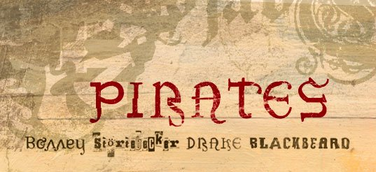 Best Pirate Fonts: Create Fantastic Typography - pirates ff