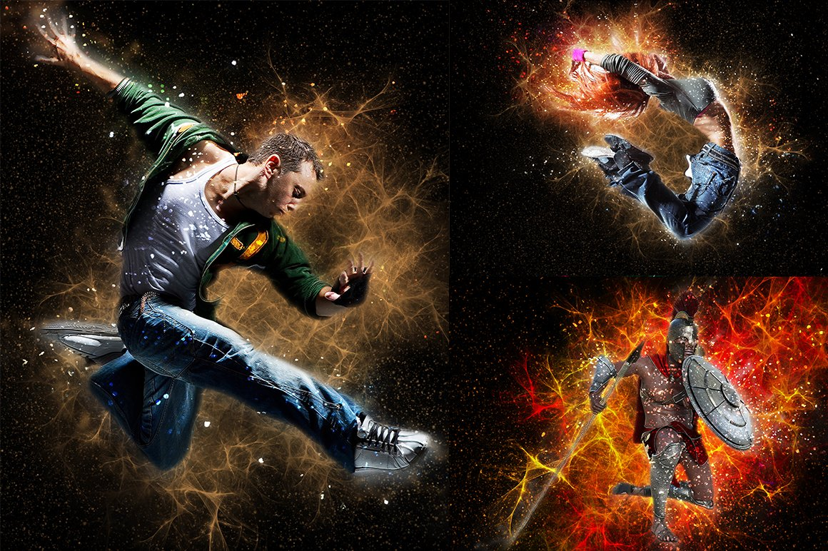 21 in 1 Creative Photoshop Actions Bundle - preview 09