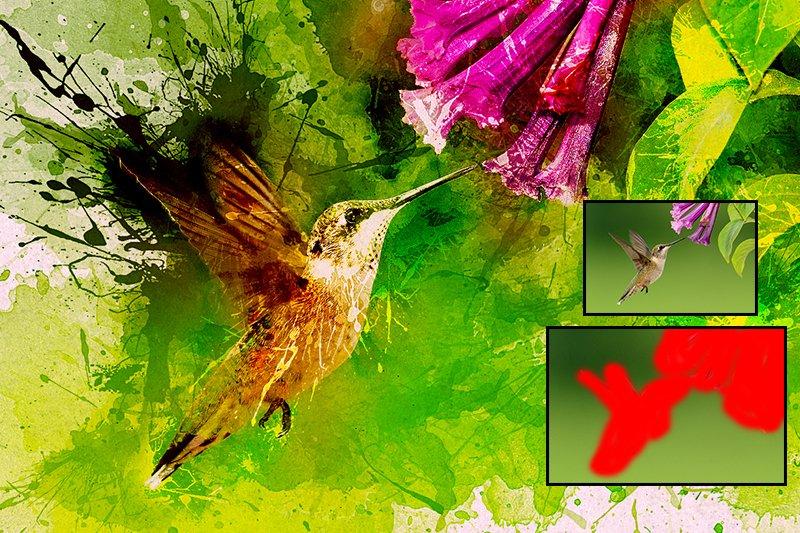11-In-1 Elegant Watercolor Photoshop Actions Bundle - preview 7