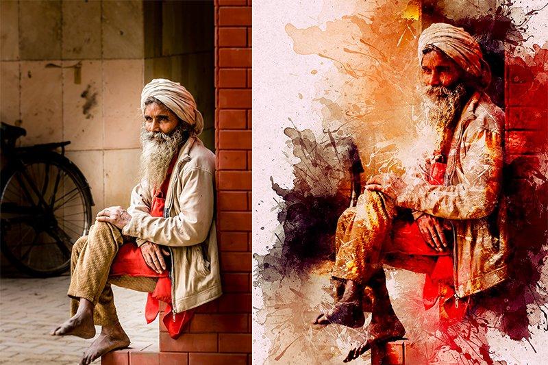 11-In-1 Elegant Watercolor Photoshop Actions Bundle - preview 9