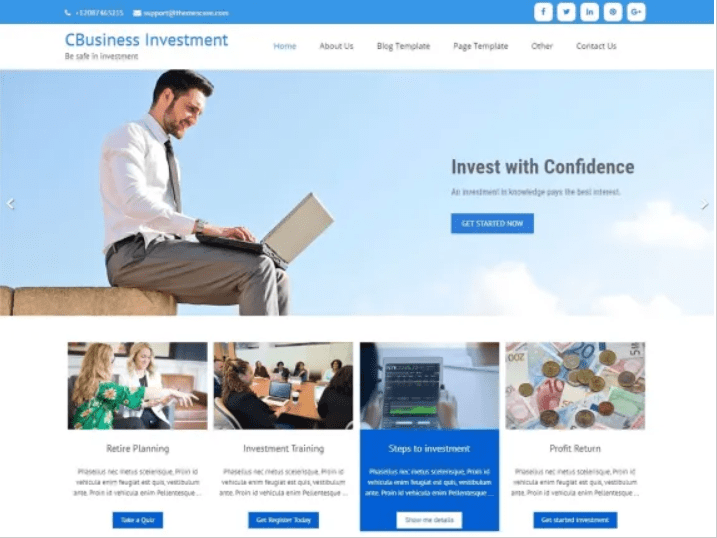 45+ Best Website Templates for Small Business in 2020 - small business website templates 15