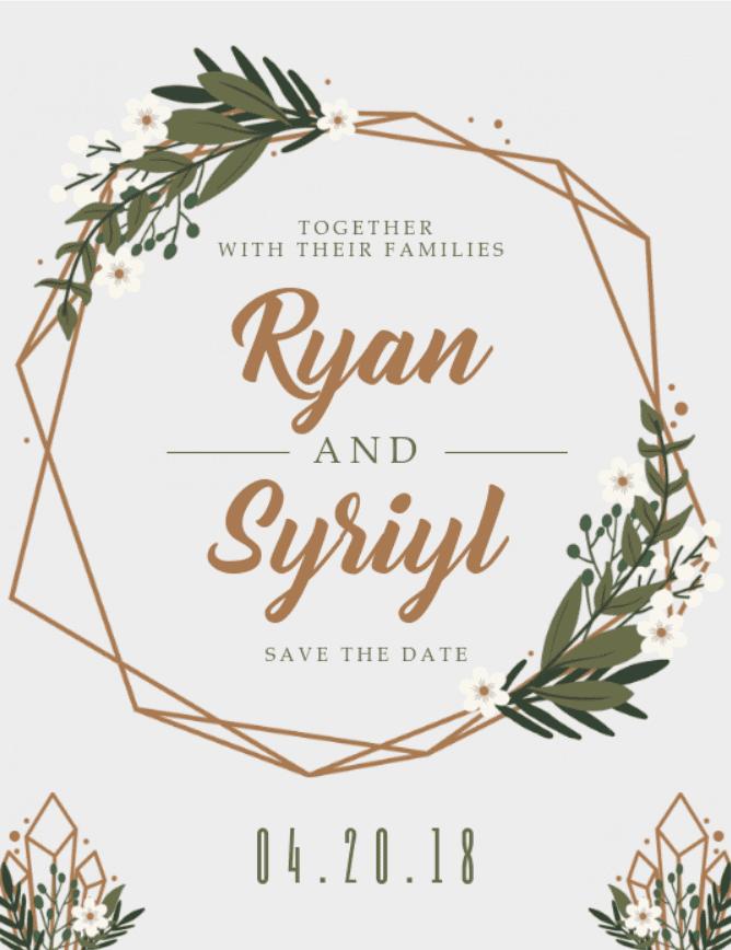 30+ Best Wedding Invitation Templates 2020: Free and Premium - template 10