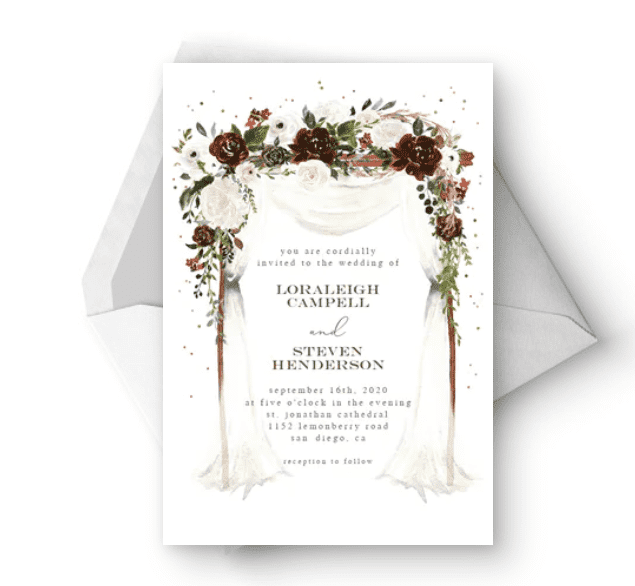 30+ Best Wedding Invitation Templates 2020: Free and Premium - template 16