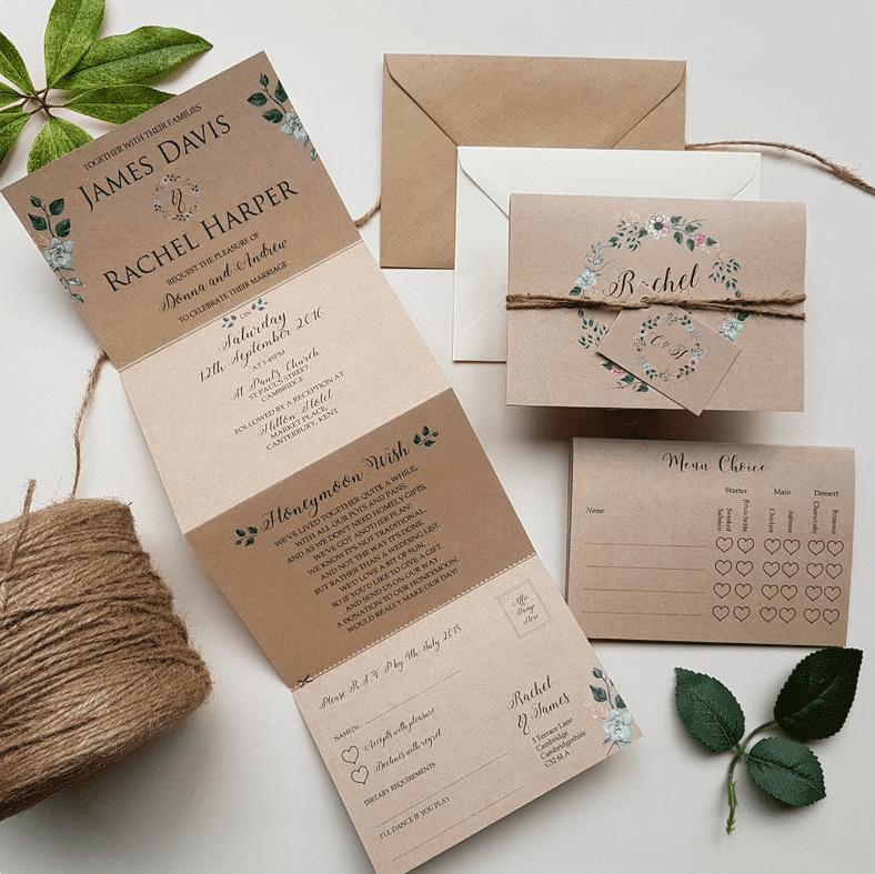 30+ Best Wedding Invitation Templates 2020: Free and Premium - template 19