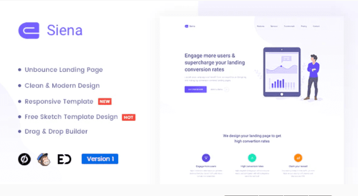 30+ Best Unbounce Templates in 2020: Free and Premium - unbounce template 16