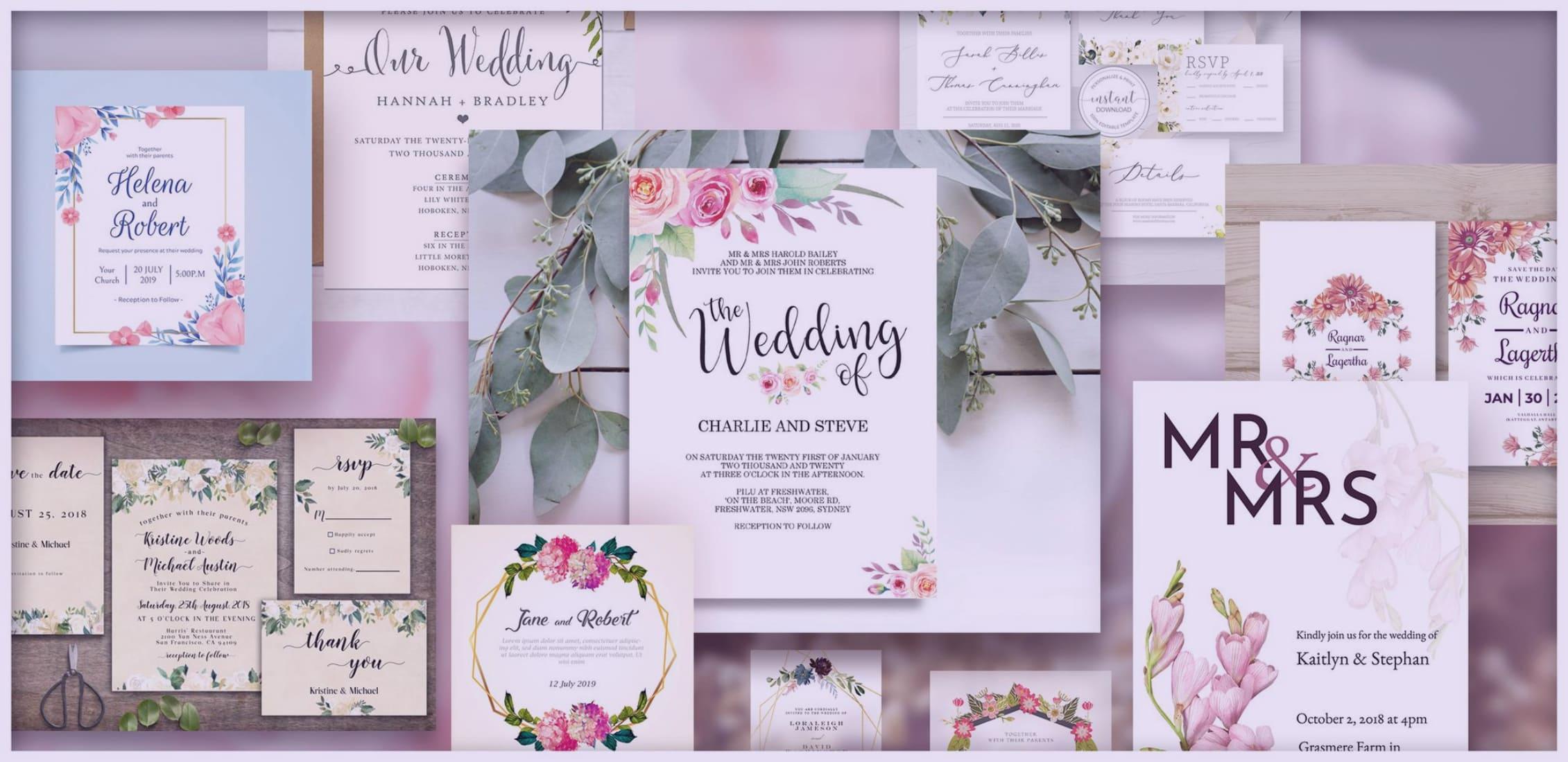 Best Wedding Invitation Templates: Free and Premium.
