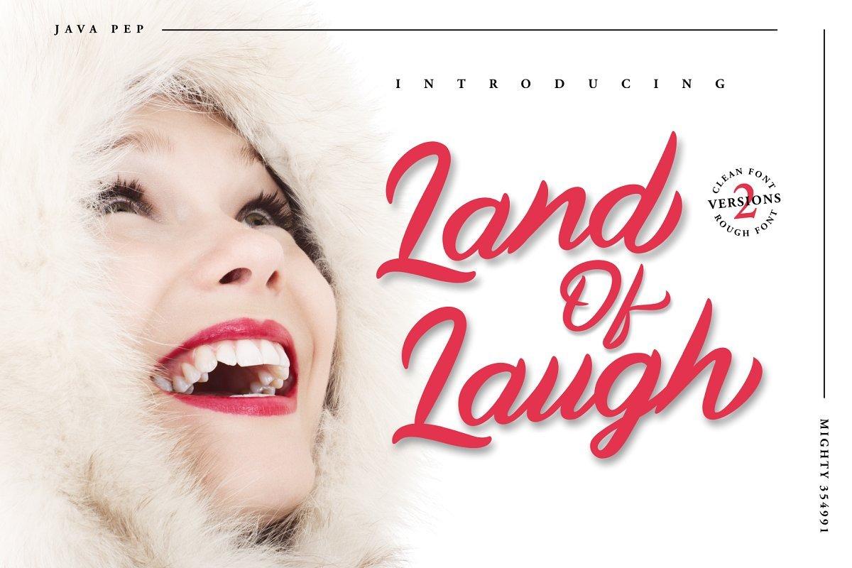 Land Of Laugh - Clean & Rough Font - 1.1