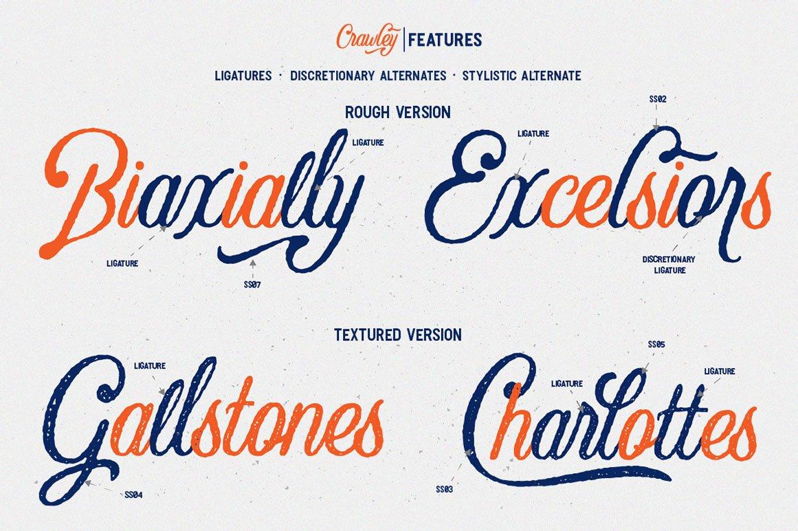 Textured Font