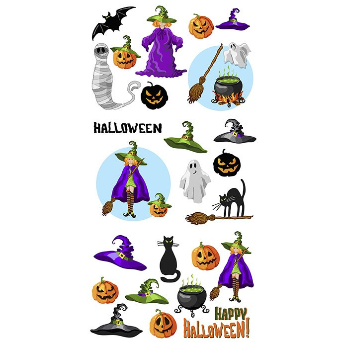 Set of Halloween Cartoon Characters - Halloween set 8 cover copy mb