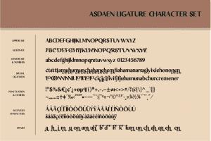 Asdaen Ligature Font - $12