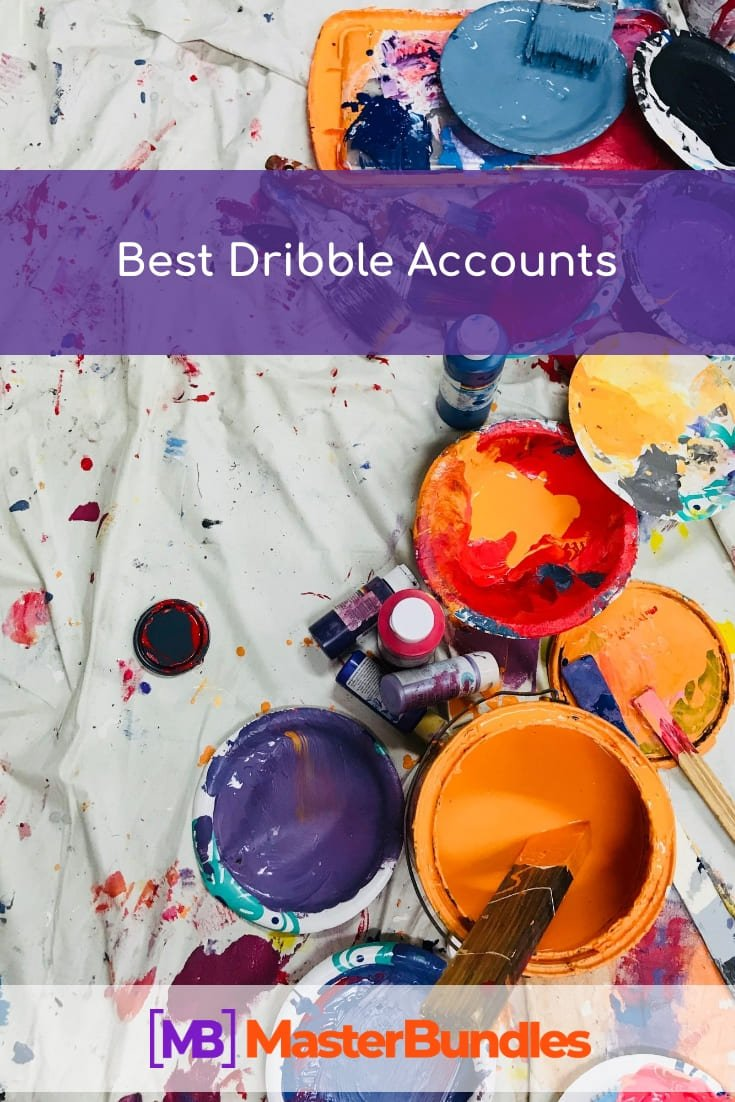 Best Dribbble Accounts. Pinterest Image.