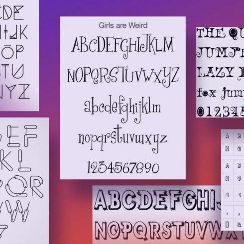 Weird Fonts Examples.