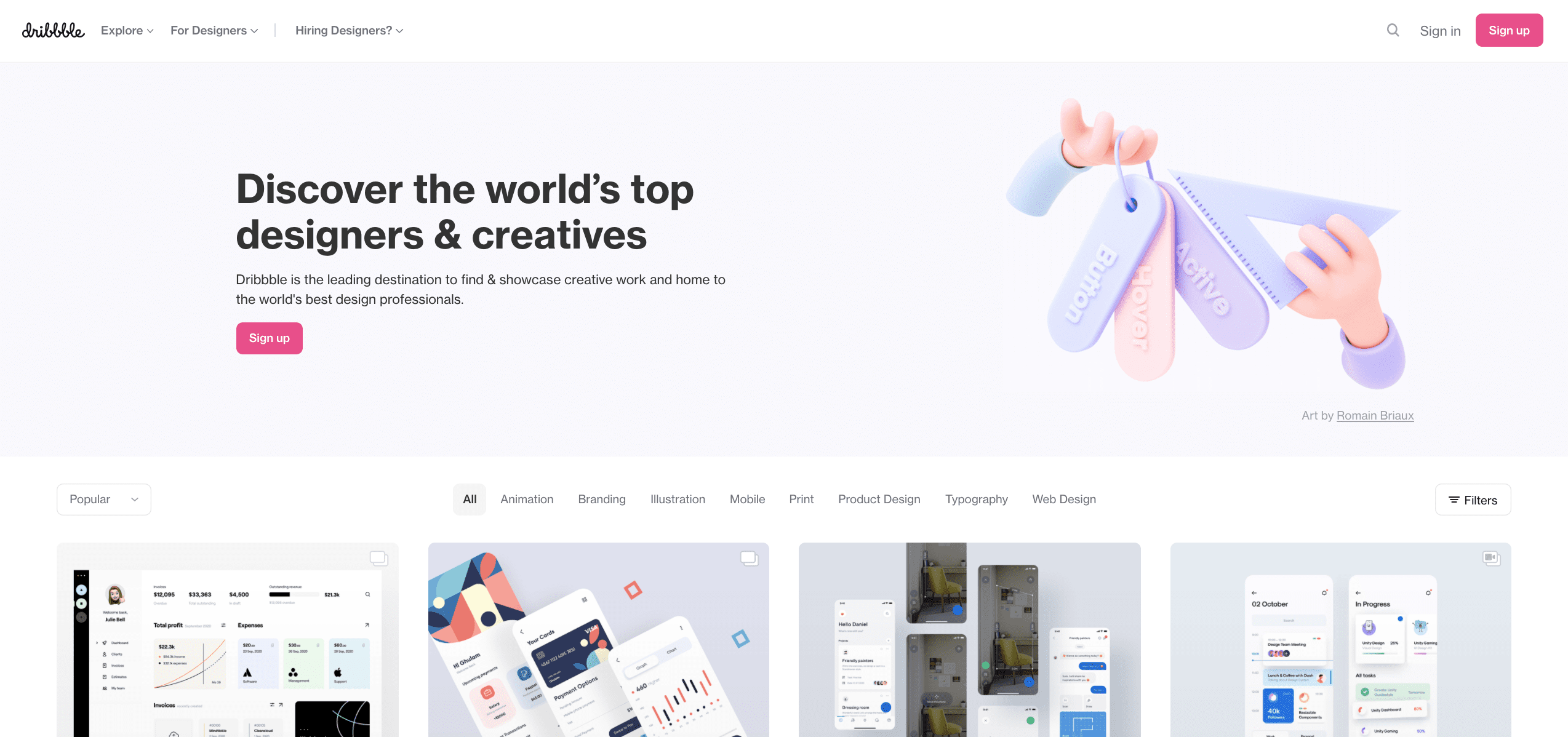 Official Dribbble Site.