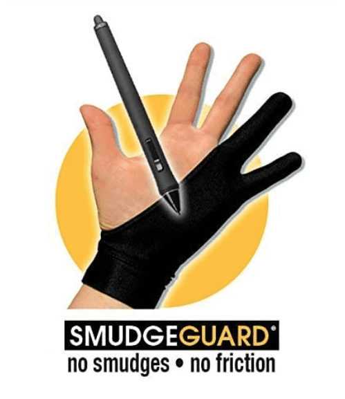 Keeps the side of your hand clean from unwanted smudges! No more sweaty hand smudges on your tablet.