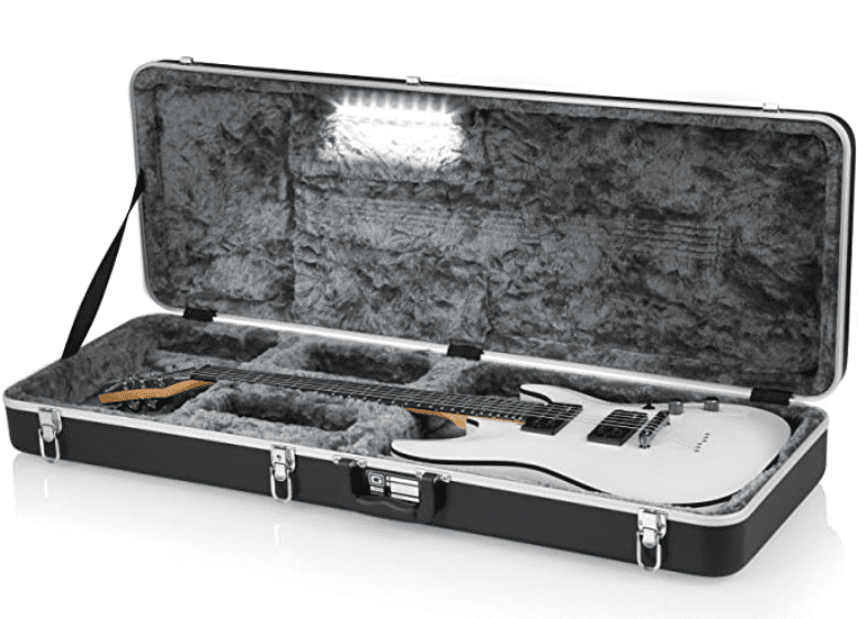 Gator Cases Deluxe ABS Molded Case for Strat/Tele Style Electric Guitar with Internal LED Lighting.