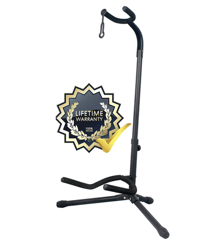 GLEAM Guitar Stand - Adjustable Fit Electric, Classical Guitars and Bass, Guitar Accessories, Folding Guitar Stand.