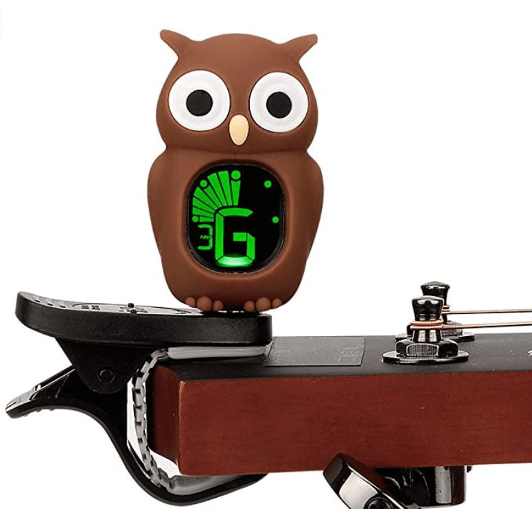 Swiff Violin Tuner Owl Cartoon Guitar Tuner, Brown.