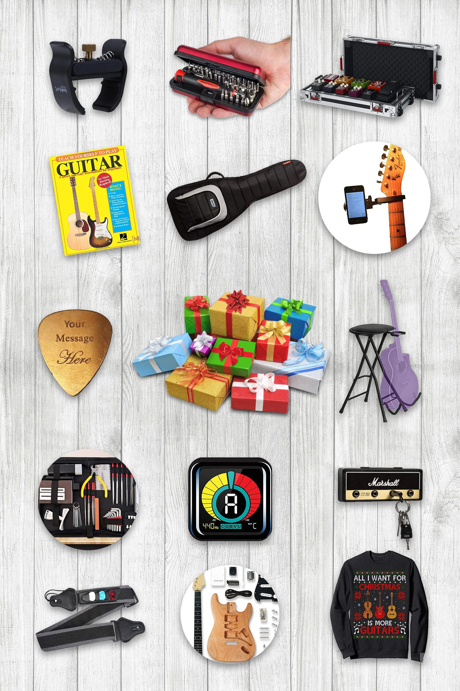 Pinterest Image Gifts for Guitar Lovers.