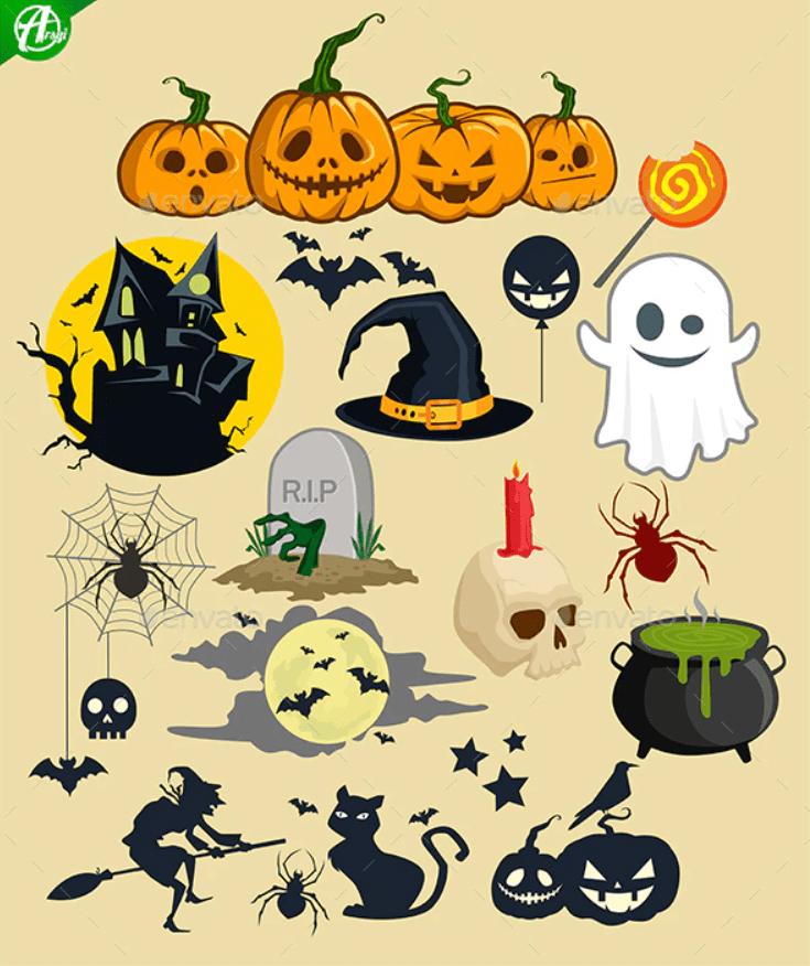 40+ Halloween Design Bundles in 2020: Amazing Design Resources with up to 90% OFF - halloween design bundle 11