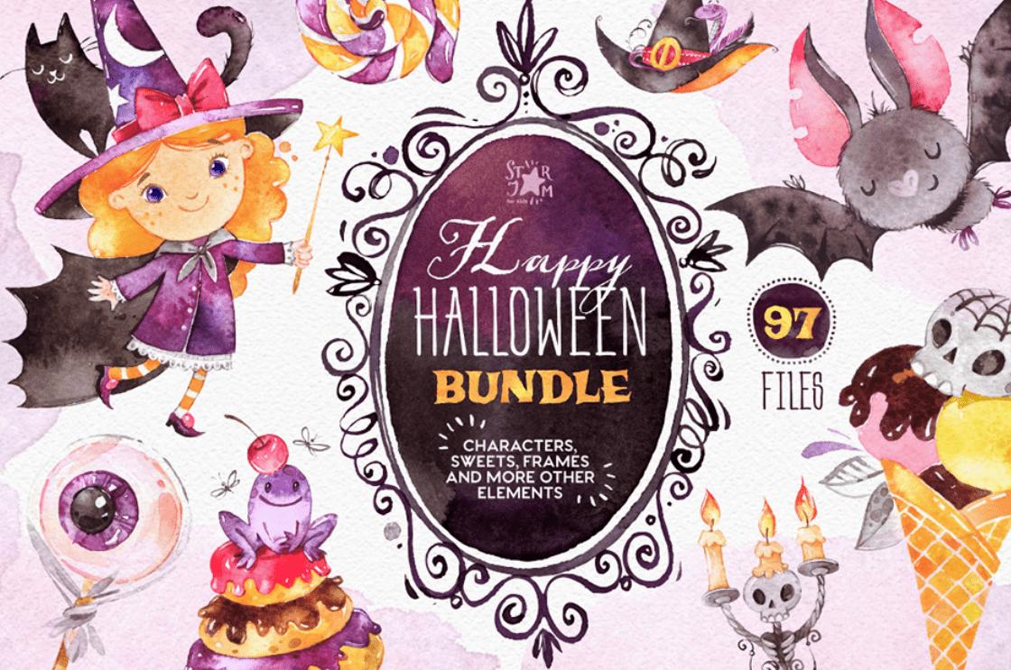 40+ Halloween Design Bundles in 2020: Amazing Design Resources with up to 90% OFF - halloween design bundle 18