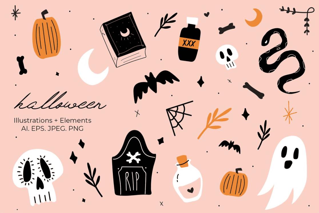 40+ Halloween Design Bundles in 2020: Amazing Design Resources with up to 90% OFF - halloween design bundle 2