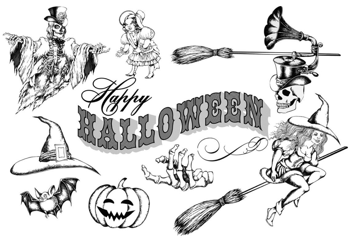 40+ Halloween Design Bundles in 2020: Amazing Design Resources with up to 90% OFF - halloween design bundle 3