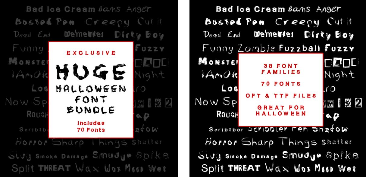 40+ Halloween Design Bundles in 2020: Amazing Design Resources with up to 90% OFF - halloween design bundle 7