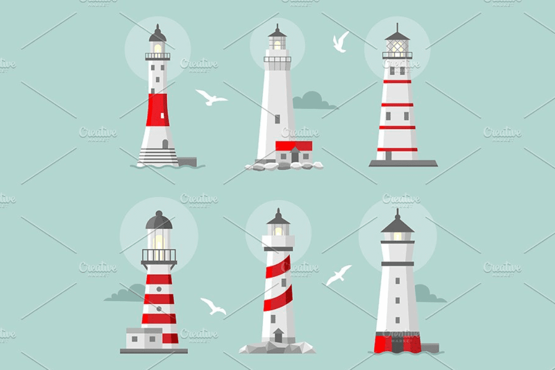 Everything You Need to Know about Lighthouse Clipart - lighthouse clipart bundle 5