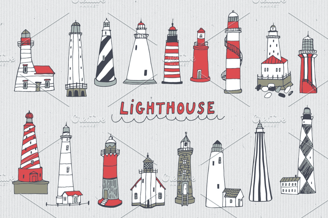 Everything You Need to Know about Lighthouse Clipart - lighthouse clipart bundle 6