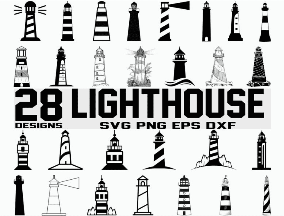 Everything You Need to Know about Lighthouse Clipart - lighthouse clipart bundle 7