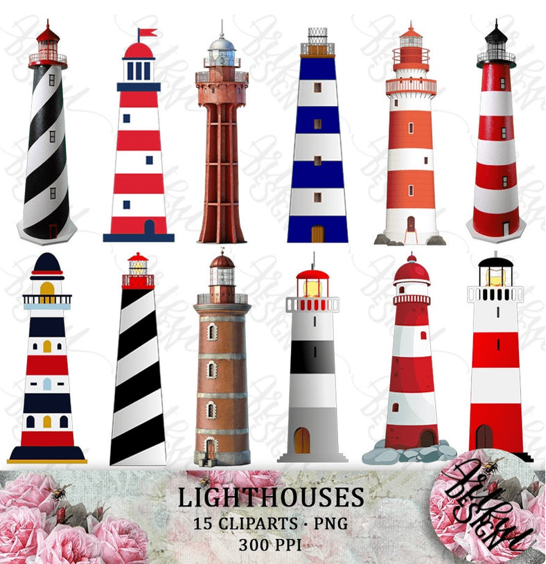 Everything You Need to Know about Lighthouse Clipart - lighthouse clipart bundle 8