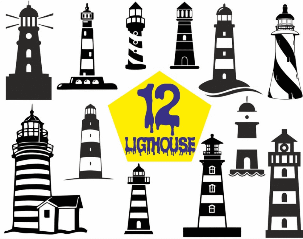 Everything You Need to Know about Lighthouse Clipart - lighthouse clipart bundle 9
