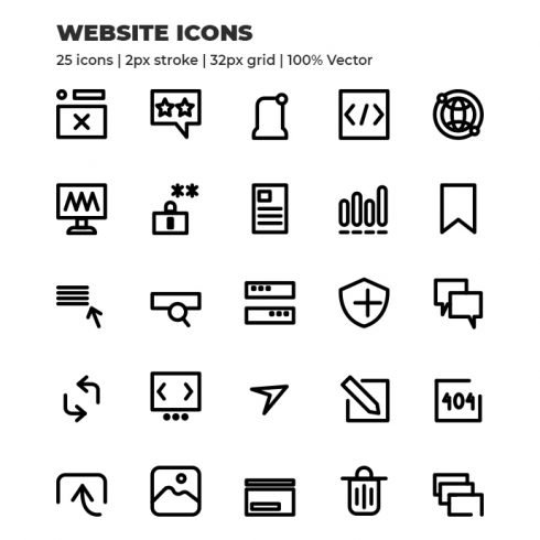1000 VECTOR ICONS: special for mobile and web design - masterbundles 1 490x490