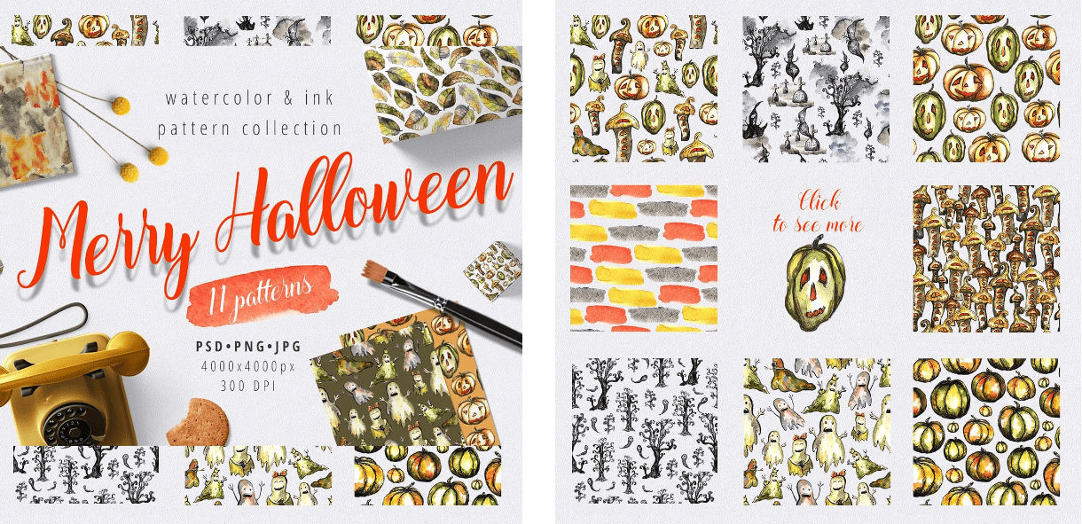 Halloween Pattern You Will Need This Spooky Season - pattern 4