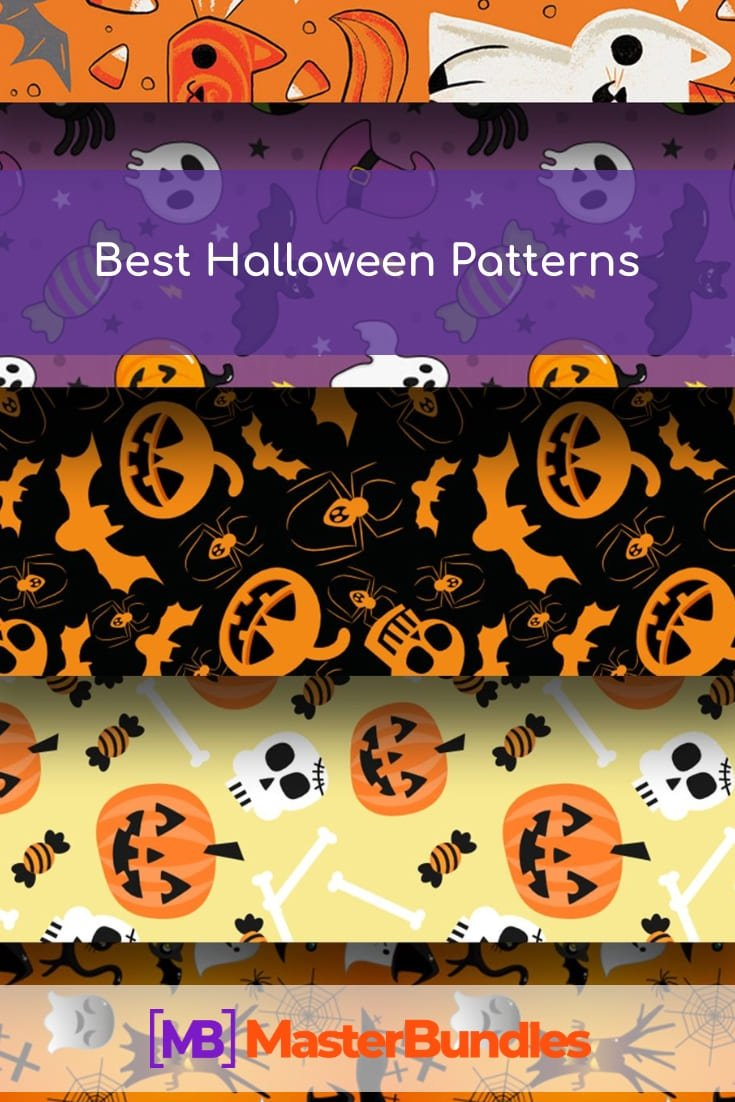 Pinterest Image. Best Halloween Patterns.