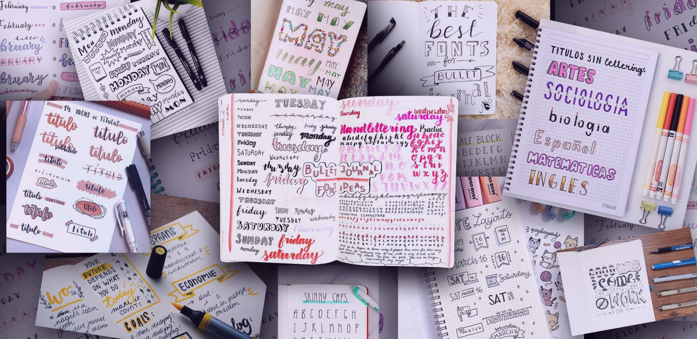 Example Best Bullet Journal Fonts.
