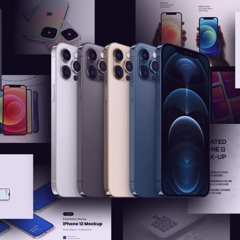 10+ iPhone 12 Mockups: Mini, Pro, Max. Free and Premium. Be In Trend With New Technology
