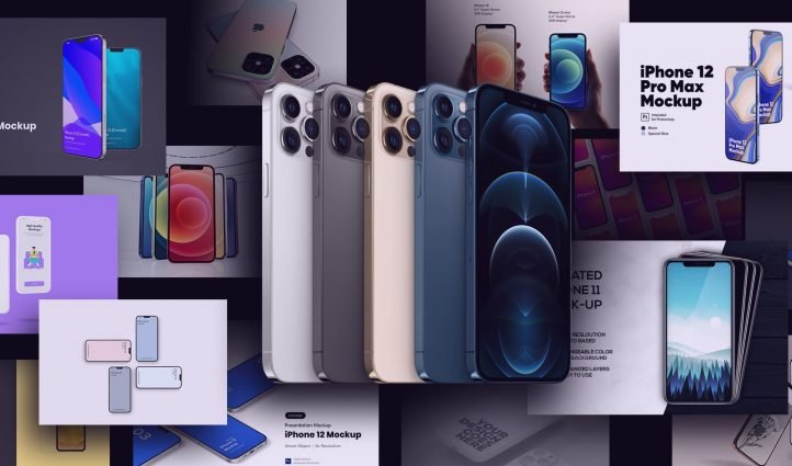 Examples Best iPhone 12 Mockup: Mini, Pro, Max.